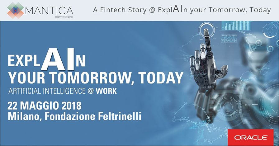 "Mantica interviene a ""ExplAIn Your Tomorrow Today"" – Milano  22.05.2018"